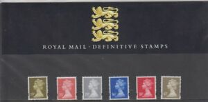 GB-Presentation-Pack-No-30-1993-MACHIN-DEFINITIVE-STAMPS-10-off-5