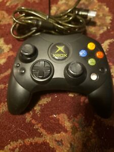 OEM-Microsoft-Original-Xbox-Controller-S-Black-with-Breakaway-Cable