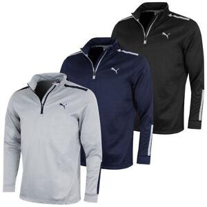 Puma-Golf-Mens-Midweight-1-4-Zip-Moisture-Wicking-WarmCELL-Fleece-46-OFF-RRP
