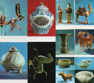 Chinese Postcards Cultural Relics Unearthed in China Lot of 12 VTG 1973