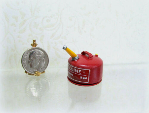 Dollhouse Miniature Metal Gas Can Handcrafted by Sir Tom Thumb