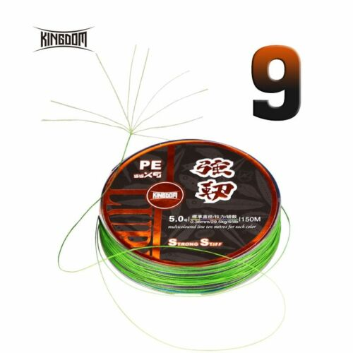 KINGDOM® Fishing Lines 9 Strands Braided PE Line Super Stiff and Strong