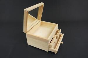 1-x-Plain-Wooden-Jewellery-Chest-Box-Trinket-Storage-3-Drawers-amp-Mirror-KOM3S