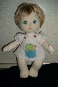 Vintage Mattel My child Boy? Baby Doll Blonde hair blue eyes guc