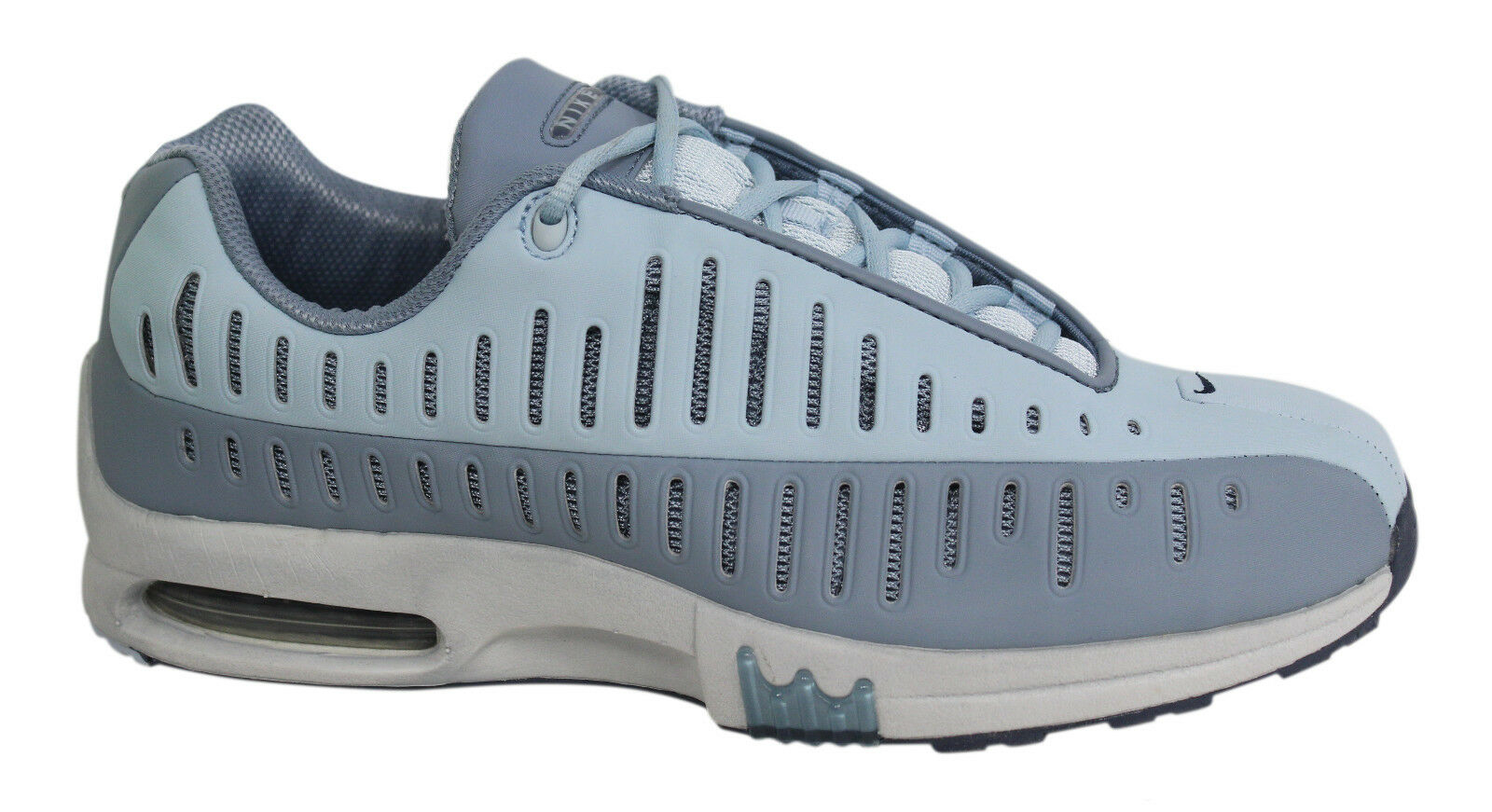 Nike Air Max Motion Womens Lace Up Grey Blue Trainers 305492 041 P6 Comfortable and good-looking