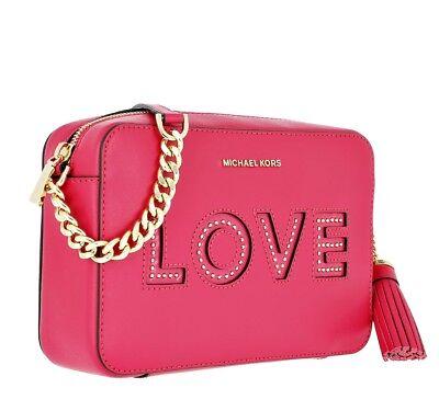 Michael Kors TascheUmhängetasche Ginny Medium Camera Bag Ultra Pink NEU   eBay