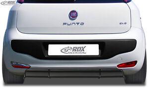 RDX-Heckdiffusor-FIAT-Punto-Evo-Diffusor-ABS-schwarz-glaenzend-Ansatz-Heck-Tuning