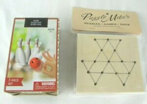 Mini-Destop-Bowling-Game-and-Wooden-Golf-Tee-Peg-Game-Brand-New-Free-Shipping