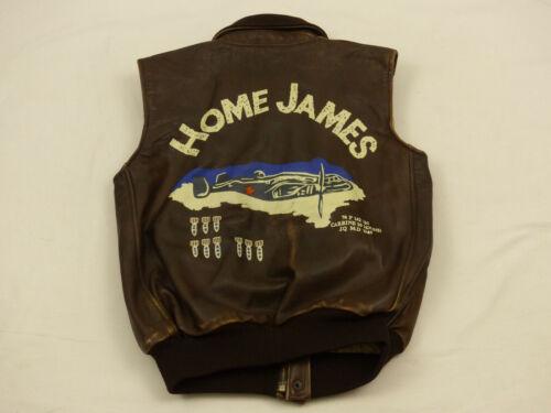 Charles CHEVIGNON Pilot's Vintage Leather Vest Hom
