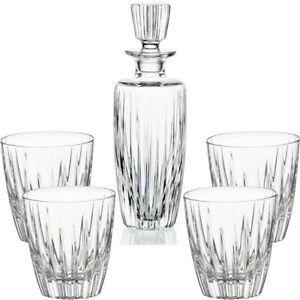 Vista-Alegre-Crystal-Fantasy-Case-With-Whisky-Decanter-And-4-Old-Fashion