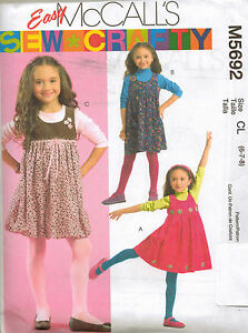 From-UK-Sewing-Pattern-Pinafore-Dress-6-8-years-5692