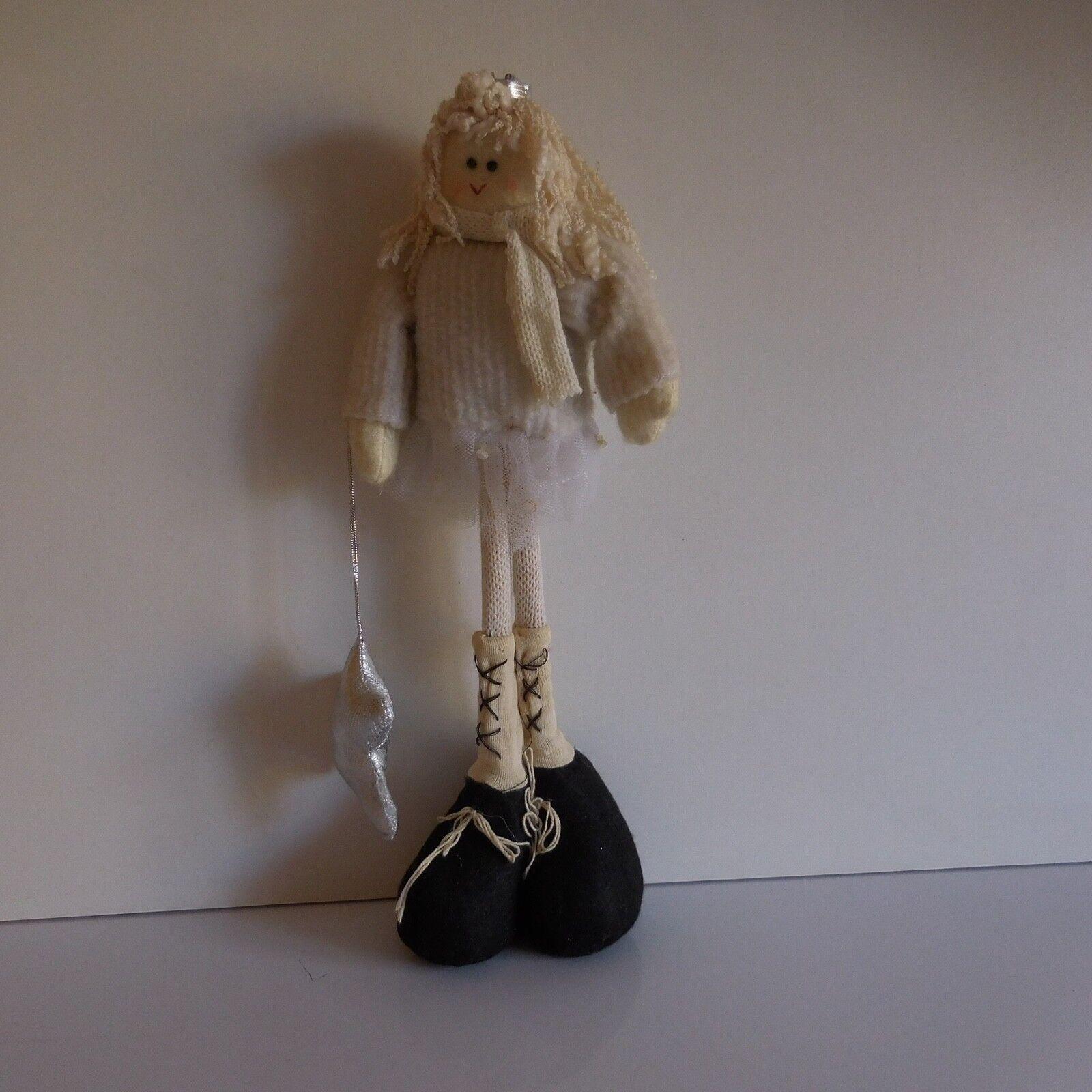 Figurine Doll Artist Cloth Handmade Fabric Art Deco Vintage Xx France N3369