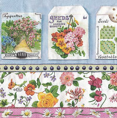 English Flower Paper Napkins Blooming Garden Ideal Home Range IHR