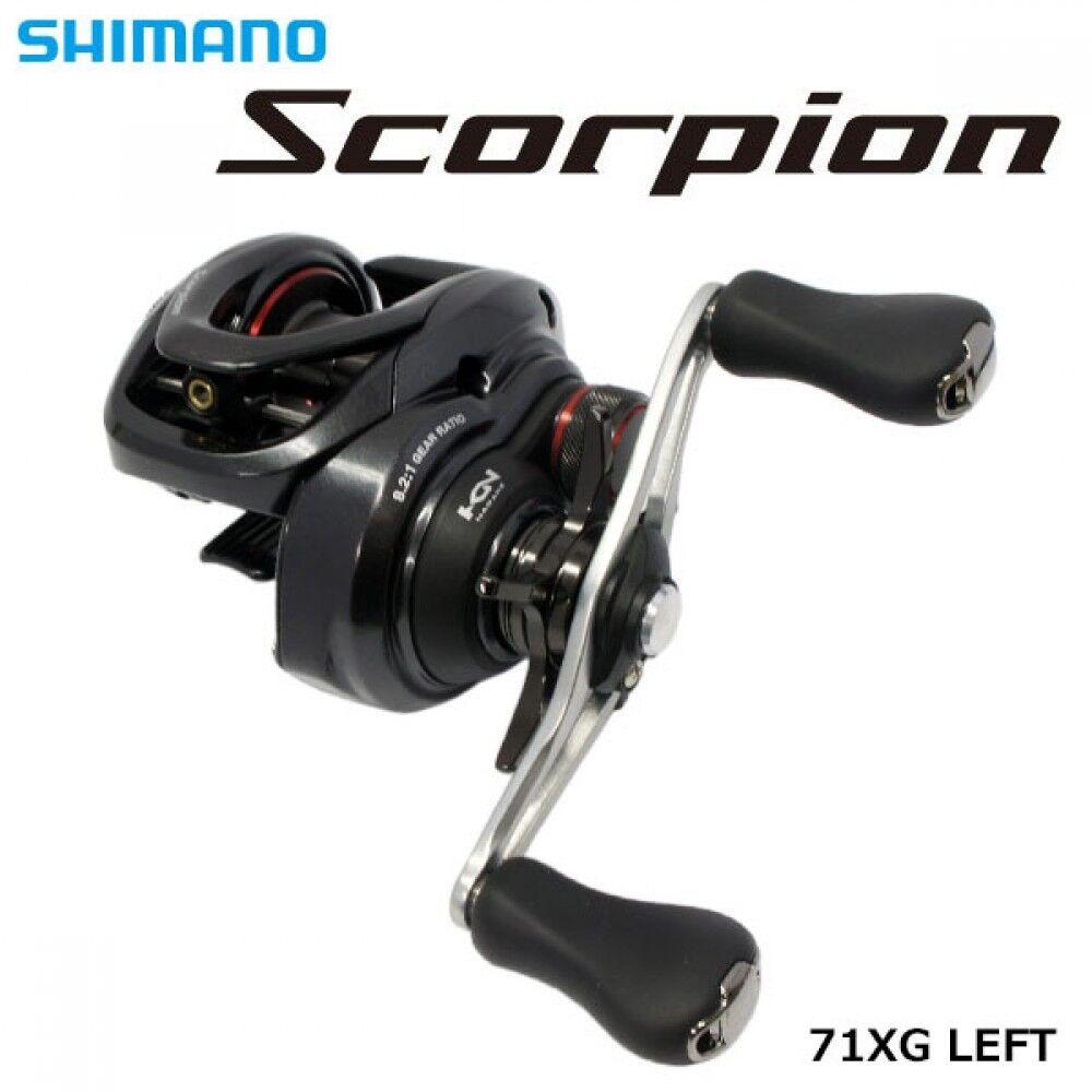 Shimano 16 Scorpion 71 XG Manija Izquierda Baitcasting Reel Nuevo F s con seguimiento