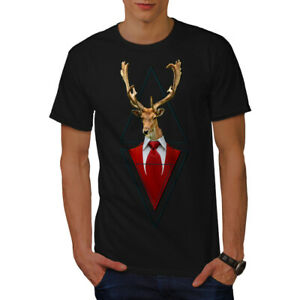 Wellcoda-Abstract-Animal-T-shirt-Homme-chic-design-graphique-imprime-Tee