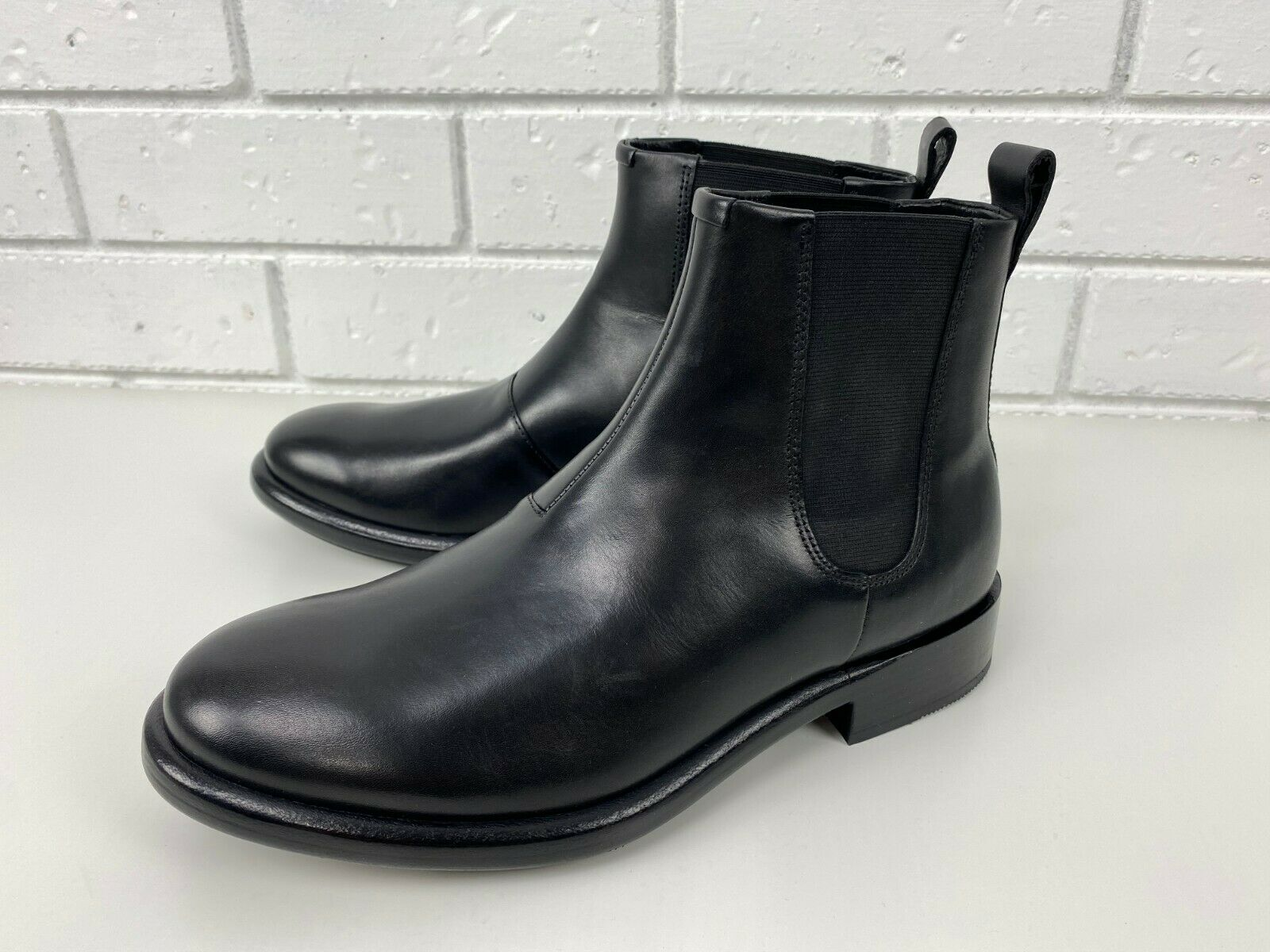 ECCO Men's Vitrus Artisan I Leather Boot in Black Size Uk 7.5
