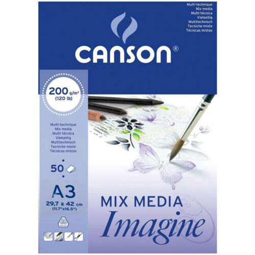Canson Imagine Multimedia Pad 200gsm 50 Sheets A3