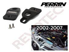 Black Perrin Upper Radiator Stay Kit For 2002-2007 Impreza WRX STi