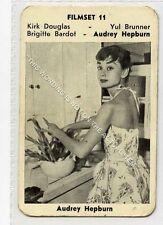 (Ga5641-100) RARE Monty Gum, Film Set #11, Audrey Hepburn, 1950's, G-VG
