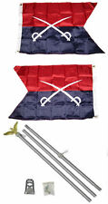 2x3 2'x3' Historical General Custer 2ply Flag Aluminum Pole Kit Set