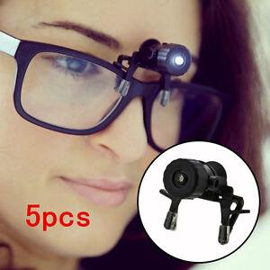 5pcs Eye Glasses Reading Glasses Clip Led Safety Light