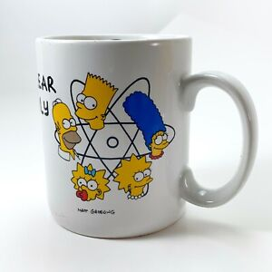 The-Simpsons-Vintage-1990-Coffee-Mug-034-Nuclear-Family-034-Free-Shipping