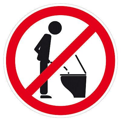 Sticker Bitte nicht im Stehen pinkeln Aufkleber Ø 8cm für