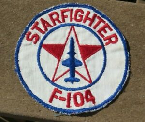 Vietnam-USAF-US-AIR-FORCE-PATCH-F-104-STARFIGHTER-Pocket-Patch
