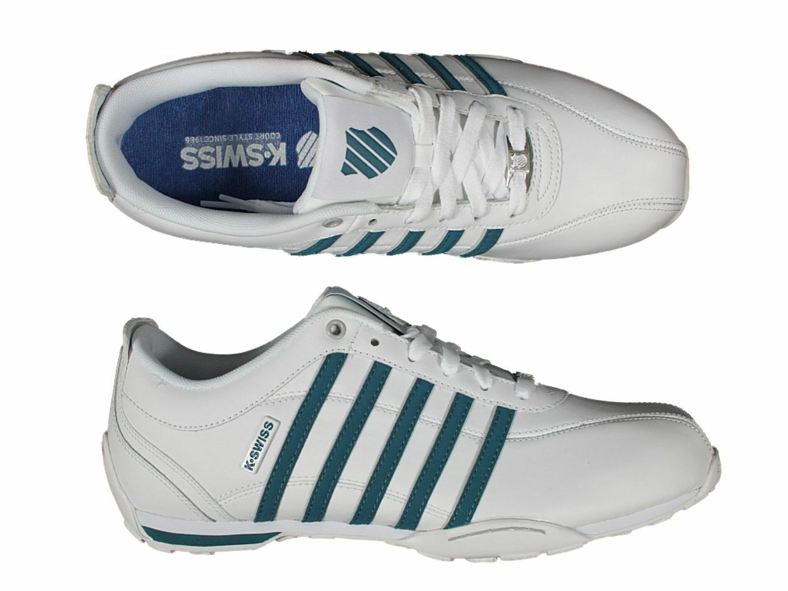 K SWISS BNWT TRAINERS ARVEE LACE UP IN CLEARANCE WHITE BLACK GREY BROWN CLEARANCE IN PRICE c7f8a4