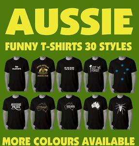 Funny T-shirts Aussie Australian Bogan Mens T-shirt Slang