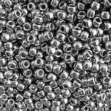 100 Nickel Plated 9x6mm Pony Beads for school science crafts paracord kandi