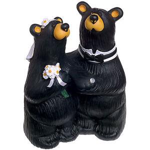 Big Sky Carvers Bearfoots Bear Wedding Couple Figurine or Wedding Cake Topper