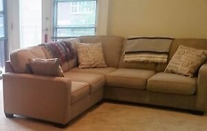 2 Piece Beige Sectional From Signature Design By Ashley Furniture Ebay