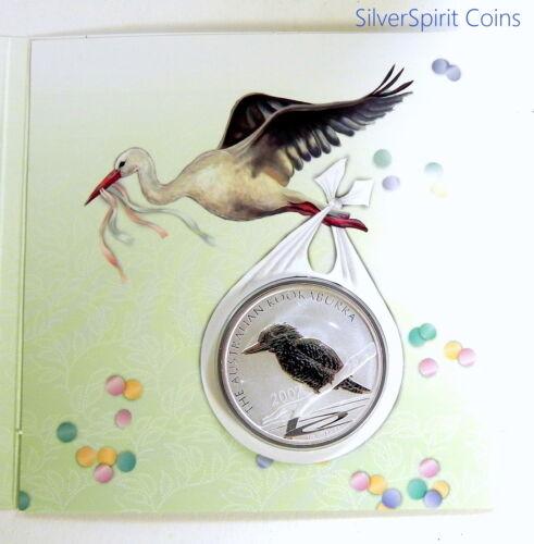 2007 KOOKABURRA SILVER 1oz SILVER BABY GIFT Coin in Card