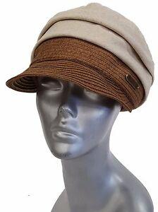 Hatch, Women's Soft foldable Folds Cotton & Linen Cap hats Travel Sun Protection