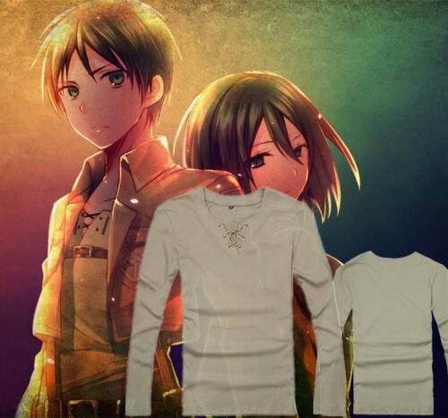 Attack On Titan Eren Jaeger anime cosplay costume Leisure 100/% cotton T-shirt