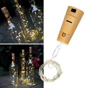 Flaschenverschlüsse & Korken Korken Led Lichterkette 8 Leds Flaschenbeleuchtung Flaschen Batterie Warmweiß Beleuchtung