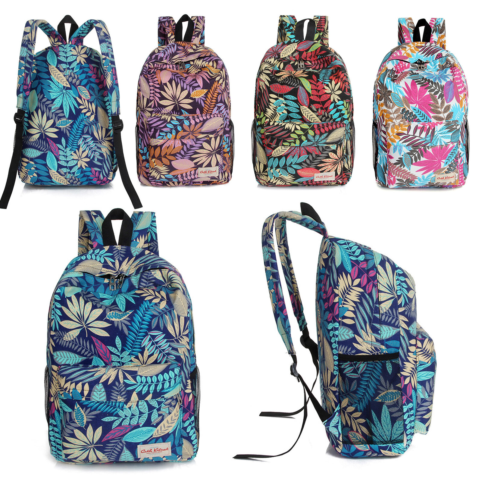 Womens Girls Shoulder School Bag Canvas Laptop Backpack Travel Hiking ... - s l1600