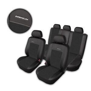 Premium Kunstleder Sitzbezüge Sitzbezug Schonbezüge für VW Bora Schwarz Set