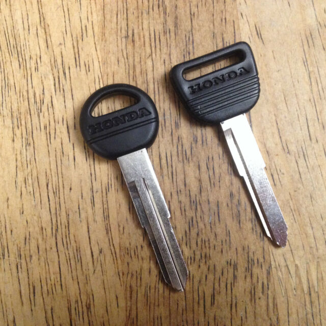OEM Honda Ignition Key & Valet Key Blank Set Keys Pair Uncut OEM #35117-SM4-901