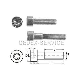Zylinderkopfschrauben mit TORX ISO 14579 A2 Edelstahl V2A M5X6 bis M5X50