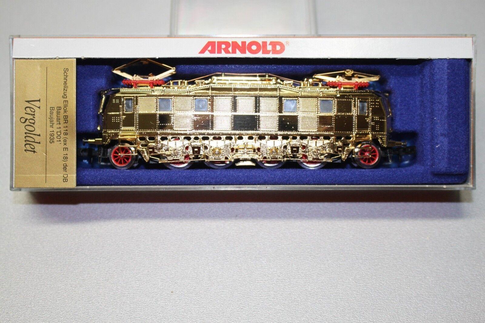 Arnold 2715 Elok Baureihe 118 ex E 18 vergoldet Spur N OVP