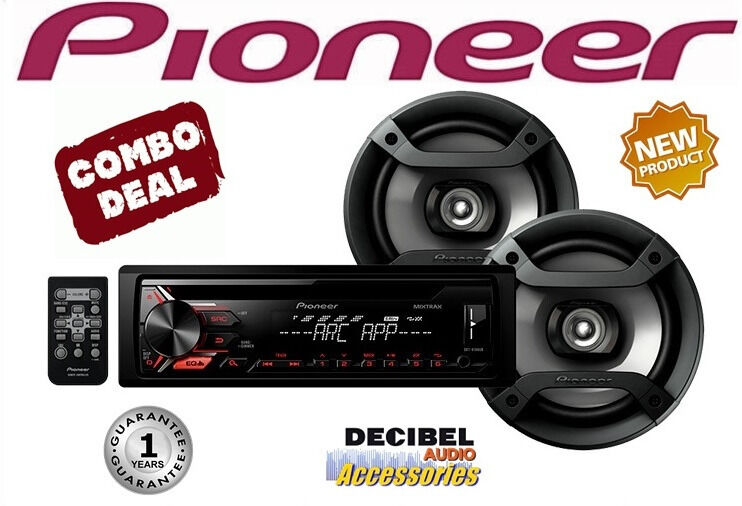"Pioneer DXT-X196UB Combo USB/AUX CD Player and 6"" 2-Way Speakers"