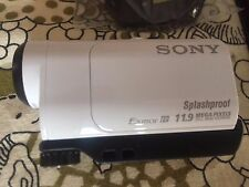 Sony HDR-AZ1VR HD Action Cam Camera/Camcorder with Rechargable Battery - White