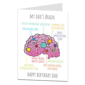 Funny-Birthday-Card-For-Dad-Dad-039-s-Brain-Perfect-For-50th-60th-70th