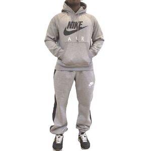 Nike-Air-Puff-Print-Logo-Hooded-Tracksuit-Overhead-Hoodie-Jogging-Pant-Set