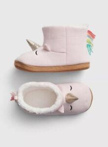 Gap Kids Girl Unicorn Slippers Booties