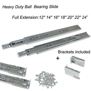 Full Extension12 24 Side Bottom Mount Soft Close Drawer Slide