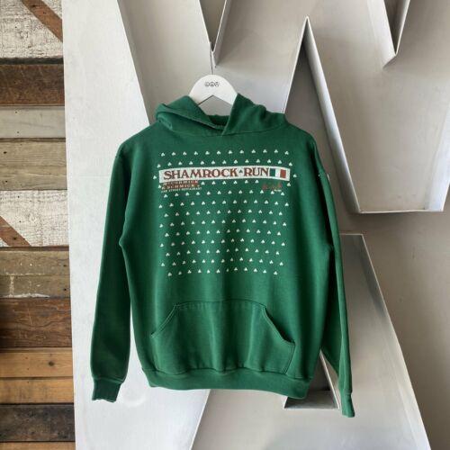 Vintage 70's Shamrock Run Irish Clovers Green Rus… - image 1