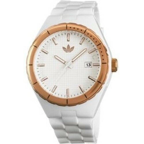 Comunista El actual candidato  NEW ADIDAS WHITE,ROSE GOLD+DATE CAMBRIDGE WATCH ADH2086 for sale ...